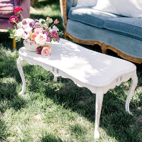 Engaging White Coffee Table