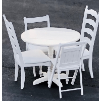 Petite White Table