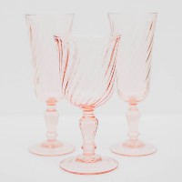Sheer Pink Goblets/glasses