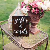 Dark Wood Gifts & Cards Sign