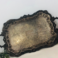 Large Antique Silver Platter