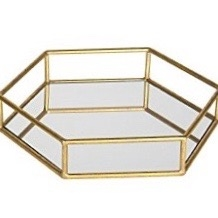 Small Felicia Gold Mirror Tray