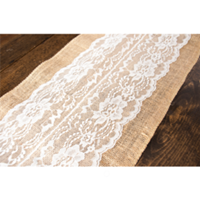 Handcrafted Burlap/Lace Table Runners