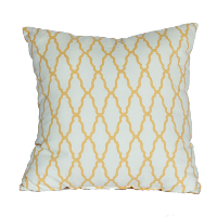 Yellow and White Geometric Pilllow
