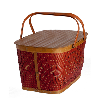 Vintage Red Picnic Basket