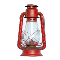 Red Vintage Oil Lamp