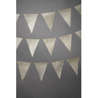 8' Parchment Pennant Garland