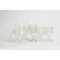 Clear Vintage Goblets