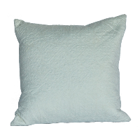 Oversized White Quilted Pillow