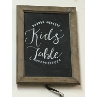 Kid's Table Chalkboard