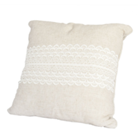 Square Linen and Lace Pillow