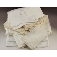 Mis-Matched Vintage White and Ivory Napkins