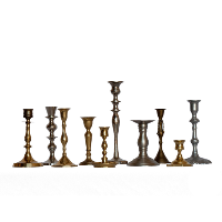 Assorted Mixed Metal Candlesticks