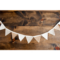 Small Linen and Burlap Bunting