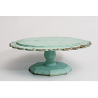 Light Aqua Pedestal/Cake Stand