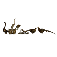 Assorted Brass Bird Figurines