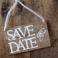 Wooden Save the Date Sign