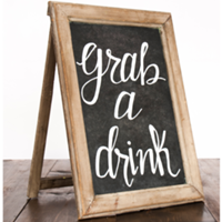 Wooden Grab A Drink Sign