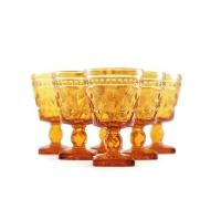 Amber Vintage Goblets
