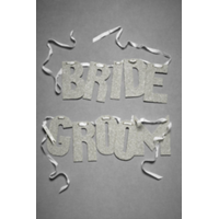 Glittered Notion Banner- Bride & Groom