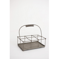 Metal Milk Bottle Basket