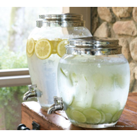 Large Glass Beverage Dispenser