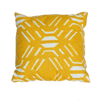 Yellow and White Mod Pillow