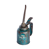 Small Blue Oil Can