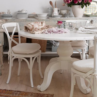 Shabby White Round Table