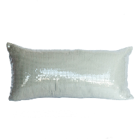 Silver/Grey Sequined Pillow