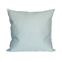Oversized White Chevron Quilted Pillow