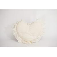 Ivory Crocheted Heart Pillow