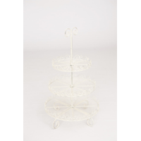 Shabby White Tiered Stand