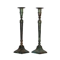 Metal Candlestick Holder - Set of 2