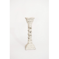 Shabby White Candlesticks