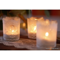 Lace Wrapped Votive