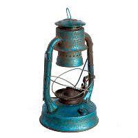 Blue Vintage Oil Lamp