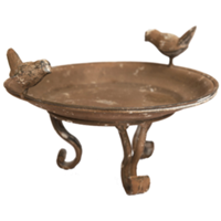 Rusty Bird Bath/Feeders