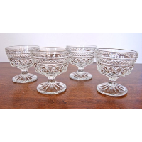 Clear Vintage Champagne Coupes