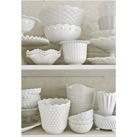Milk Glass Candy Dishes