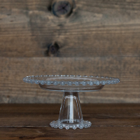 Clear Hobnail Cake Stand