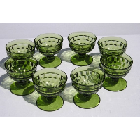 Green Vintage Champagne Coupes