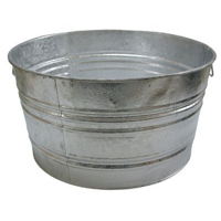 Large Galvanized Wash Tub