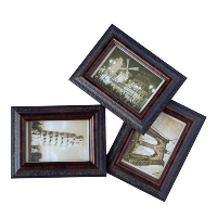 Framed Vintage Photography Postcards