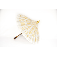 White and Gold Parasol