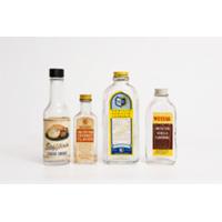 Assorted Vintage Labeled Bottles