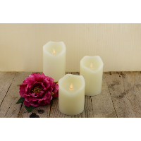 Small Flameless Pillar Candles