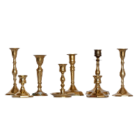 Assorted Gold/Brass Candlestick Holders