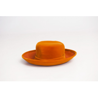 Vintage Ladies Orange Felt Hat