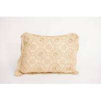Beige Crocheted Pillows
